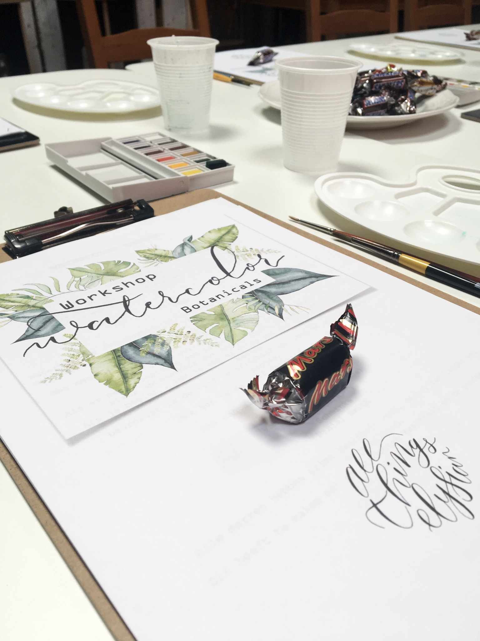 workshop watercolor botanicals